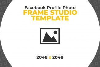 Facebook Frame Studio Template by Detroix Digital